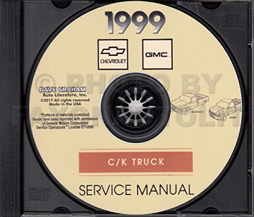 1999 CHEVY And GMC TRUCK And PICKUP REPAIR SHOP & SERVICE MANUAL CD - Includes Silverado, Sierra, C/K, 1500, 2500 And More - 1500 Chevy Truck R/v