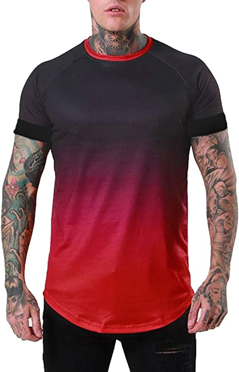 sólido T Camisa Mens Negro y Blanco 100% Camisetas de ...