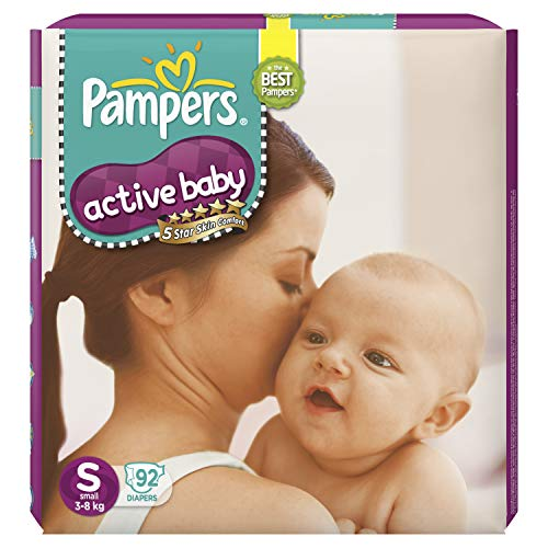 Pampers Active Baby Taped Diapers Small 92 Pieces