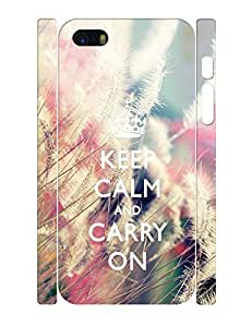 Fantastic Collection Mobile Phone Case With Keep Calm And Crown And Foxtail Design Anti Scratch Case Cover for Iphone 5 5s