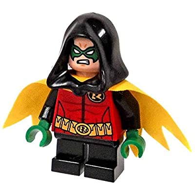 Lego Robin Minifigure exclusive with hood 76056 DC Super Heroes by LEGO
