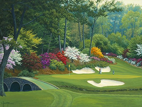 (Augusta on The 12th Hole by Charles White Art Print, 16 x 12 inches)