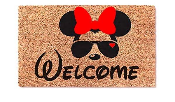 MaxEcor Felpudo de Bienvenida con diseño de Mickey y Gafas ...
