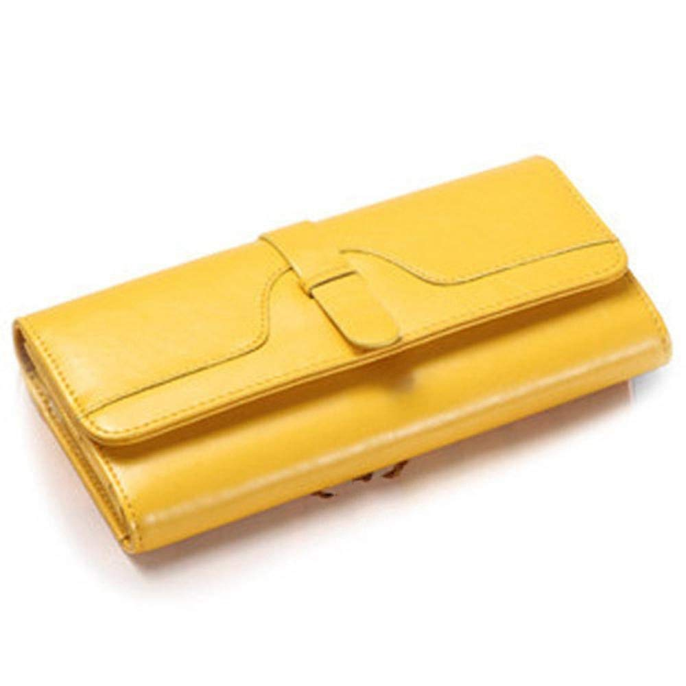 Women's Wallet Lady Wallet Oil Wax Leather Wallet Retro Wallet PU Leather