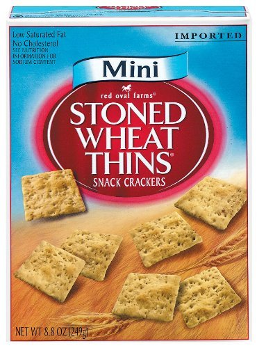 Red Oval Farms Mini Stoned Wheat Thins, Snack Crackers, 8.8 oz (Pack of 3) by Red Oval Farms