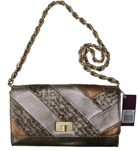 Elliott Lucca Cordoba Large Clutch Handbag Piece Pewter Genuine ()