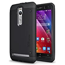 ASUS ZenFone 2 - TUDIA Ultra Tough OMNIX [Heavy Duty] Hybrid Full-body Protective Case with Front Cover and Built-in Screen Protector / Impact Resistant Bumpers Cover for ASUS ZenFone 2 (Matte Black)