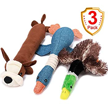Pet Supplies : Goose canvas dog toy with squeaker by Tuff