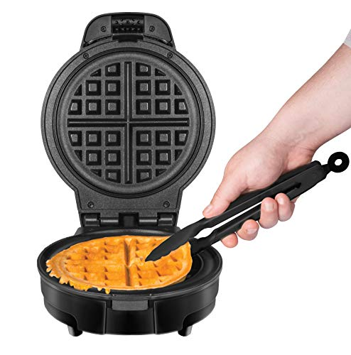 Chefman Anti-Overflow Waffle Maker Mess Waffle Iron Plates & Measuring