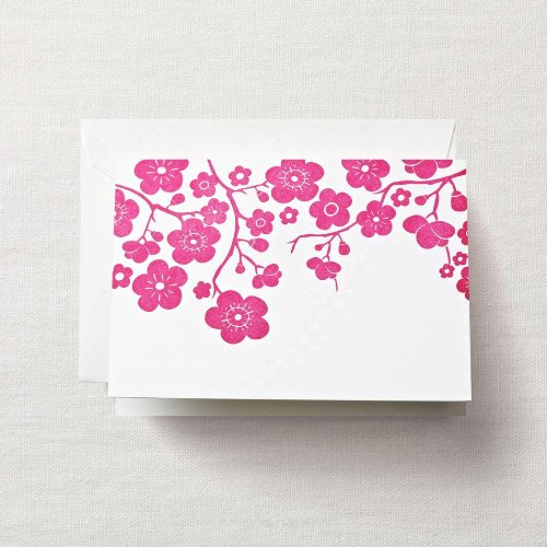 Crane & Co. Letterpress Plum Blossom Note (CF1329), Pack of 10 ()