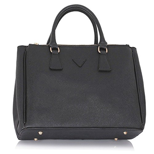 large size ladies women 39 s fashion designer faux leather chic bags handbags tote large size bag. Black Bedroom Furniture Sets. Home Design Ideas
