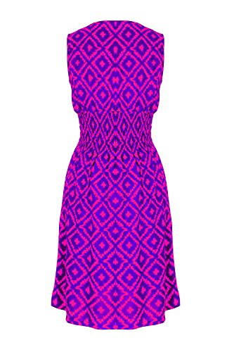 G2 Chic Women's Printed Spring-Summer Midi Dress(DRS-CAS,DPK-L)