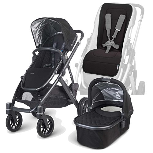 Uppababy 2015 Vista Stroller With Bassinet And Seat Liner