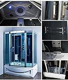 Bathtubs with Jets Luxury KBM 9001 Bathtub, Steam Shower Room Enclosure 60 x 35, Home SPA, 6 Body massage Jets, Overhead rainfall shower head, Computer control panel, Freestanding Modern Bath