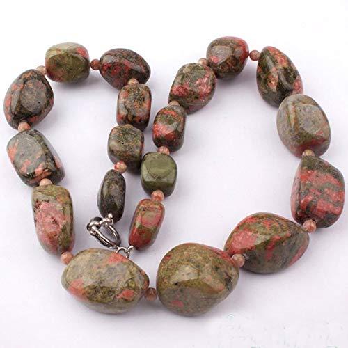 - Calvas 13-19x15-25mm Natural Freeform Shape Tiger's Eye,Fluorite,Unakite Gem Stone Beads Necklace Strand 16