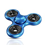 Best Hand Spinners - New Vision Spinner Fidget Toy With Premium Hybrid Bearing -High Speed Spinner (Blue) OSTSO