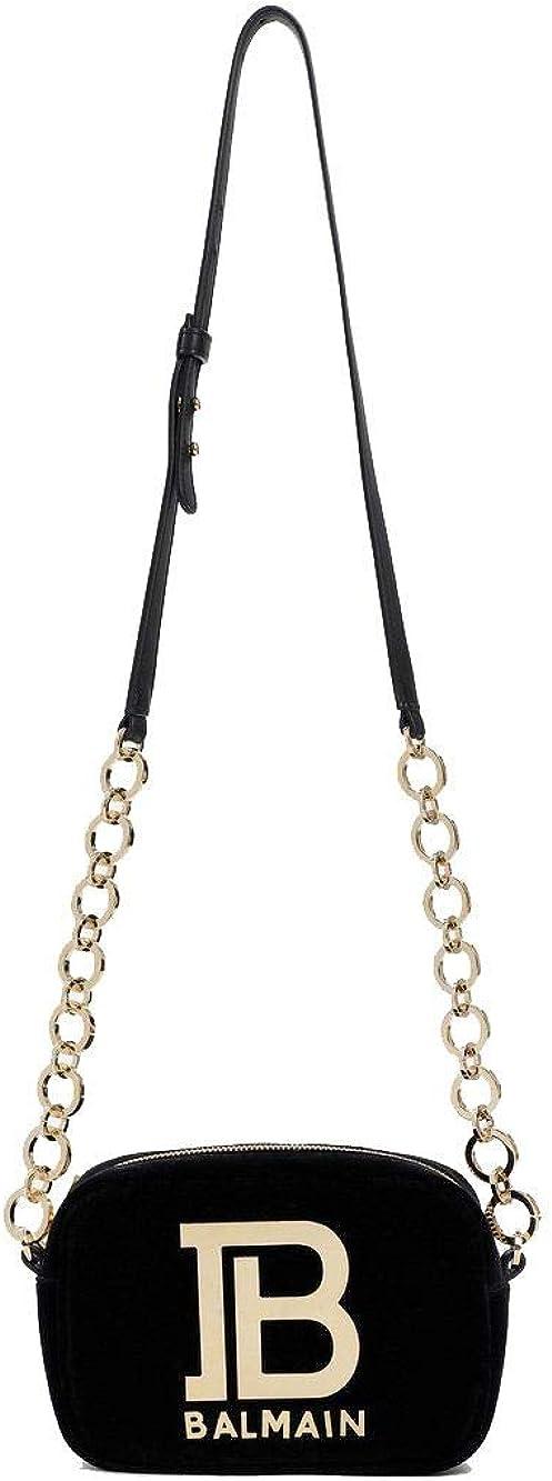 Balmain Luxury Fashion Mujer SN1M030TVTR0PA Negro Bolso De Hombro   Otoño-Invierno 19: Amazon.es: Ropa y accesorios