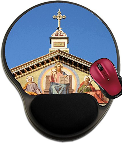 Liili Mousepad wrist protected Mouse Pads/Mat with wrist support design Basilica of Saint Paul outside the walls in Rome Italy Photo 12816641 - Basilica Outdoor Wall
