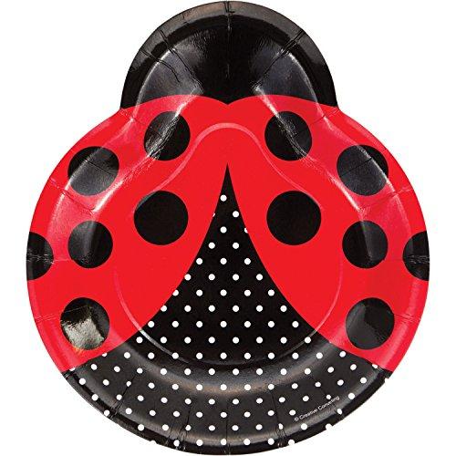 Ladybug Fancy Shaped Plates, 24 ct]()