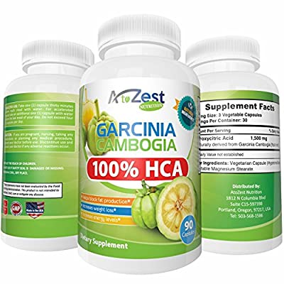 Garcinia Cambogia Purest and most potent available! 100% HCA, GMO FREE, 90 500mg Veggie Caps!, Reduce Appetite, Lose Weight, Boost Energy, Natural Fat Burn, Women and Men, 75 Day Guarantee