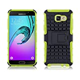 JAMMYLIZARD [ Samsung Galaxy A5 (6) 2016 Case ] ALLIGATOR Heavy Duty Double Protection Rugged Back Cover, Lime Green