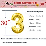 Aerfas 30 inch Gold Number