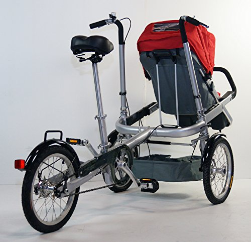 Red Family Stroller Bike for Children 6 Months to 5 Years of Age MCB-01S ALU by USA-MEGASTORE (Image #5)