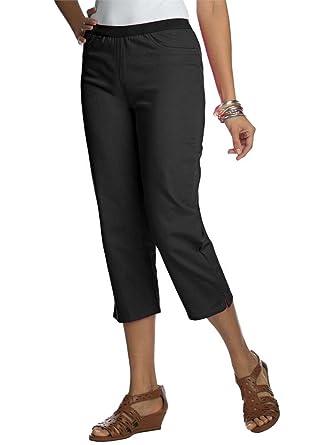 Jessica London Women's Plus Size Capri Jeggings at Amazon Women's ...
