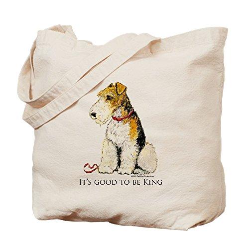 CafePress - Fox Terrier - Natural Canvas Tote Bag, Cloth Shopping Bag