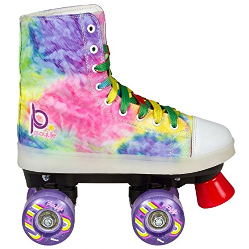 Playlife Funky Tie-Dye LED Light Up Quad Skates (EU 33 / US 02)