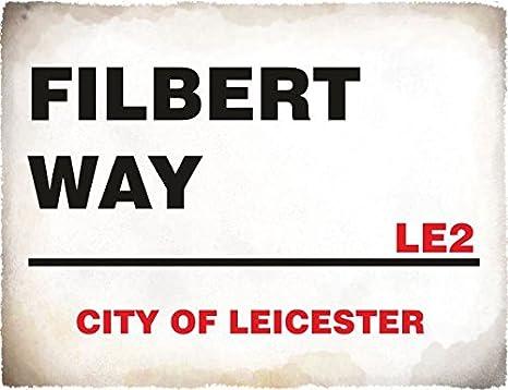 Alfombrilla ratón 4789 FILBERT CAMINO Ciudad de Leicester, Inglaterra calle signo gracioso estilo retro alfombrilla de ratón de tela 65 km de San José de ...