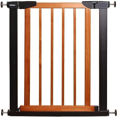PNFP Puertas for bebés Puertas metálicas for Puertas de escaleras, compuerta for Perros con presión Puerta for Mascotas con Puerta de Madera, 65-79 cm de Ancho (Color : B, Size : 65-72CM):