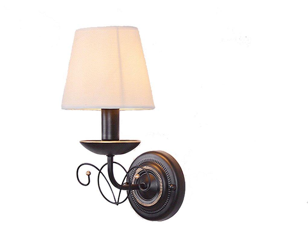 Einzelne kopf lampe, Vintage wandleuchte flur nachtwandleuchte Tuch Einzigen kopf wandleuchte E14 (Farbe   One pair)