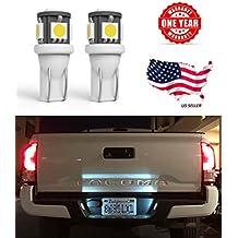 LED Monster 2 x 168 194 T10 5SMD LED Bulbs Car License Plate Lights Lamp White 12V (1) (5 SMD)
