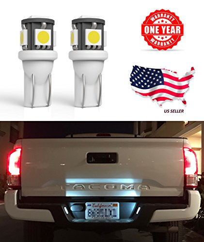 72 Corvette White Car (LED Monster 2 x 168 194 T10 5SMD LED Bulbs Car License Plate Lights Lamp White 12V (1) (5 SMD))