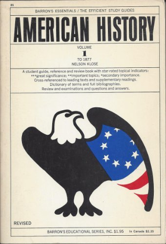 American History Volume 1: To 1877