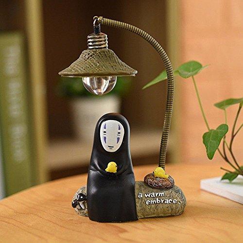 fannuoyi Spirited Away Kaonashi No Face Man Night Light Best Gift Home Decor Craft Decorative Lights (Light with Chick)