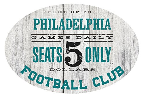 PhotoSteel Home of the Philadelphia Football Club Metal Sign Teal/Black - Oval 12