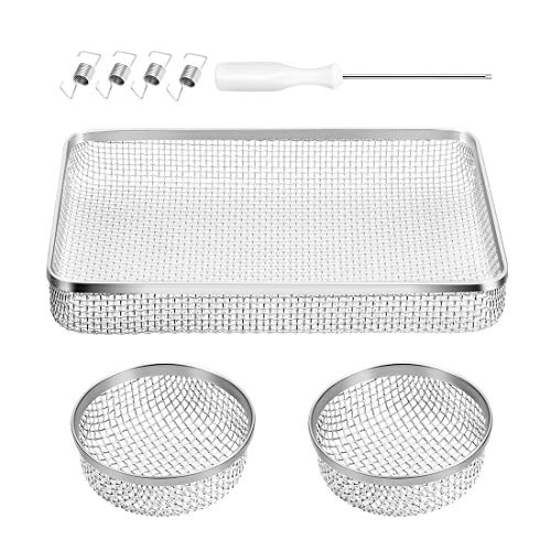BougeRV RV Flying Insect Screen RV Furnace Vent Cover Water Heater Screen Stainless Steel Mesh for RVs/Campers/Trailers (3Pack)