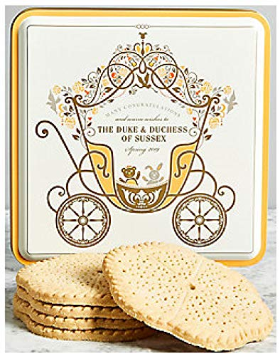 M&S Duke & Duchess of Sussex Royal Baby Boy 2019 Biscuit Tin & Butter Shortbread