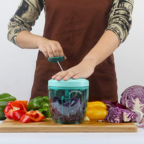 Lekoch Hand Pull Food Processor Manual Food Chopper for Fruit Vegetable Meat - Portable Medium Blender
