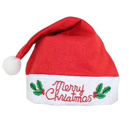[Christmas Cartoon Hats, Malltop Children Red And White Cap For Christmas Santa Claus Party Costume] (Holloween Costumes Designs)