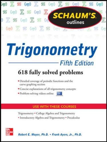 Schaums Outline of Trigonometry, 5th Edition: Amazon.es: Moyer ...