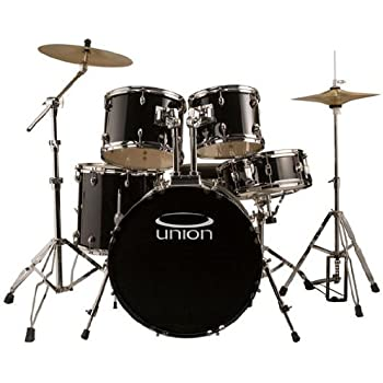 union db5770 bk 5 piece jazz rock blues drum set with hardware cymbals and throne. Black Bedroom Furniture Sets. Home Design Ideas