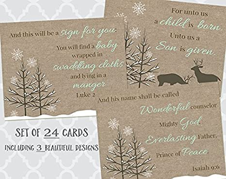 the reason for the season religious christmas cards manger christian holiday scripture - Christmas Card Scripture