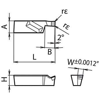 Indexable Grooving Insert 1 Piece Kyocera GVF L300B KPD010 Grade PCD