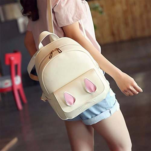 Leather Backpack Travel 4 Women Bag Pcs A02 A01 3 6xvqtBa