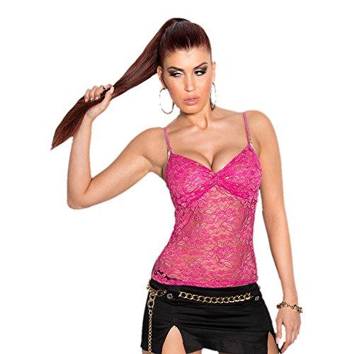 In - Stylefashion - Débardeur - Dentelle - Col en V - Femme -  rose - Taille Unique