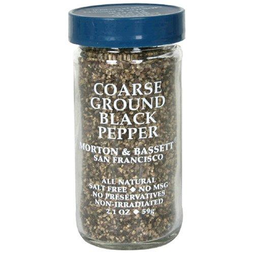 Morton & Bassett Coarse Ground Black Pepper, 1.8-Ounce Jars (Pack of 3)