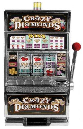 "2"" Round ~ Crazy Diamonds Slot Machine Birthday ~ Edible Image Cake/Cupcake Topper!!!"
